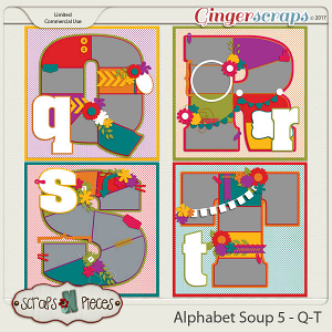 Alphabet Soup Template Pack 5 - Q-T