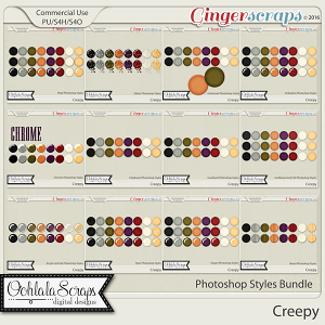 Creepy CU Photoshop Styles Bundle