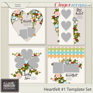 Heartfelt #1 Templates by Aimee Harrison
