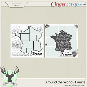 Around the World Countries: France Templates by Dear Friends Designs