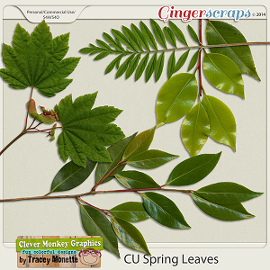 CU Spring Leaves by Clever Monkey Graphics