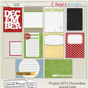 Project 2013:  December - Journal Cards