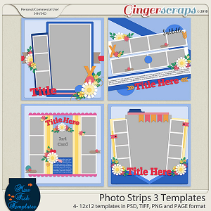 Photo Strips 3 Templates by Miss Fish