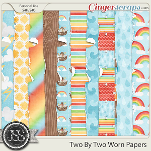 Two By Two Worn Papers