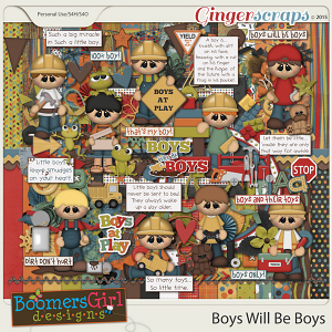 Boys Will Be Boys by BoomersGirl Designs