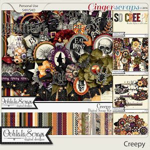 Creepy Digital Scrapbooking Collection