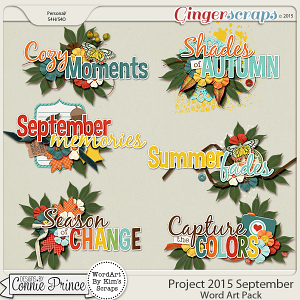 Project 2015 September - WordArt Pack