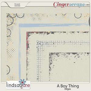 A Boy Thing Edges by Lindsay Jane