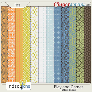 Play and Games Pattern Papers by Lindsay Jane