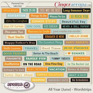 All Year {June} - Wordstrips