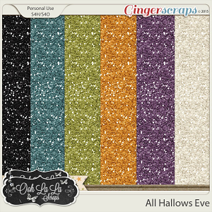 All Hallows Eve Glitter Sheets