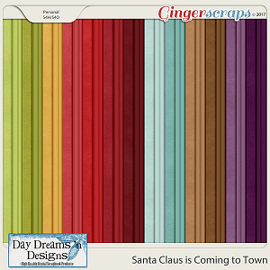 Santa Claus is Coming to Town {Solids & Tonal Stripes} by Day Dreams 'n Designs