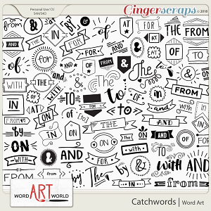 86 Catchwords Word Art - CU OK