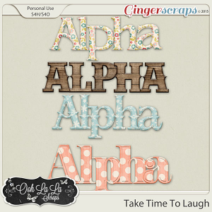 Take Time To Laugh Alphabets