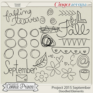 Project 2015 September - Doodled Elements