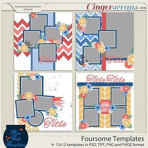 Foursome Templates by Miss Fish