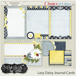 Lazy Daisy Journal and Pocket Scrapbooking Cards