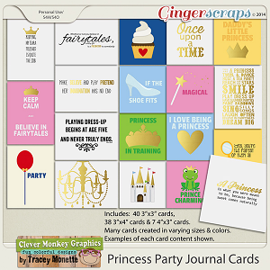 Magical Princess Party Journal Cards by Clever Monkey Graphics