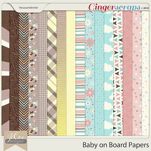 Baby on Board Papers by JoCee Designs