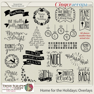 Home for the Holidays Photo Overlays by Trixie Scraps Designs