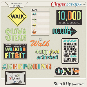 Step It Up {word art} by Little Rad Trio