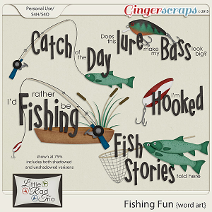 Fishing Fun {word art} by Little Rad Trio