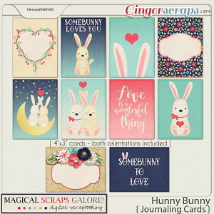 Hunny Bunny (journaling cards)
