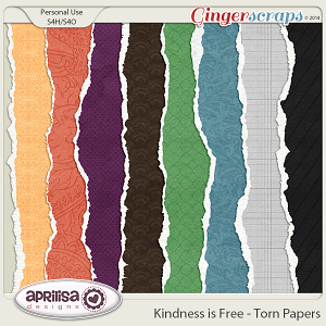 Kindness Is Free - Torn Papers