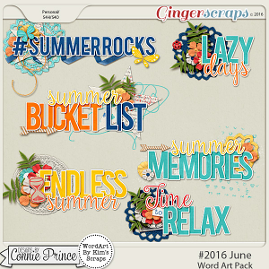 #2016 June - Word Art Pack