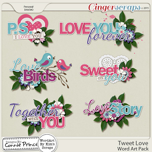 Tweet Love - WordArt Pack