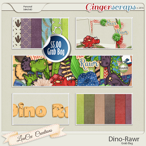 Dino Rawr Grab Bag by LouCee Creations