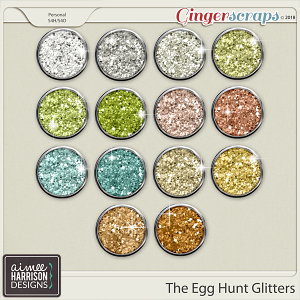 The Egg Hunt Glitters by Aimee Harrison