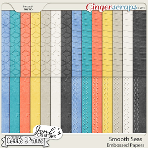Smooth Seas - Embossed Papers