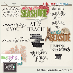 At the Seaside Word Art