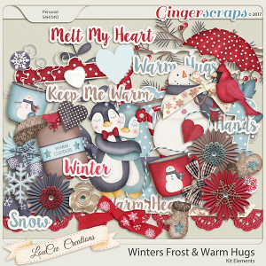 Winter's Frost and Warm Hugs Elements