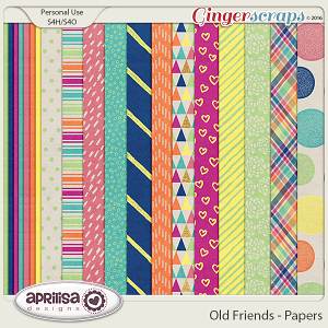 Old Friends - Papers by Aprilisa Designs
