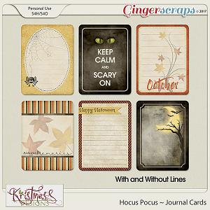 Hocus Pocus Journal Cards