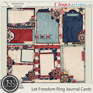 Let Freedom Ring Journal and Pocket Scrapbooking Cards