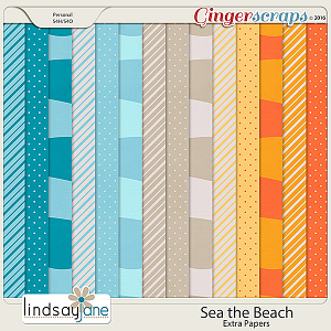 Sea the Beach Extra Papers by Lindsay Jane