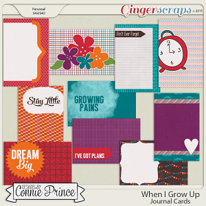 When I Grow Up - Journal Cards