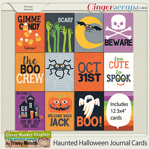 Haunted Halloween Journal Cards by Clever Monkey Graphics