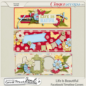 Life Is Beautiful - Facebook Timeline Covers: by Connie Prince