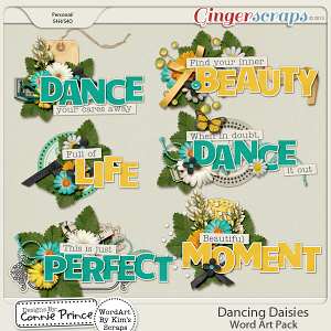 Retiring Soon - Dancing Daisies - Word Art