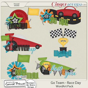 Retiring Soon - Go Team - Race Day WordArt
