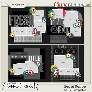 Secret Recipe  - 12x12 Templates (CU OK)
