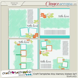 Craft-Templates May Memory Makers Set 1
