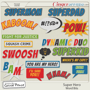 Super Hero - Word Bits