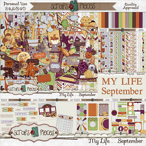 My Life - September Bundle by Scraps N Pieces