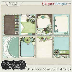 Afternoon Stroll Journal and Pocket Scrapbooking Cards