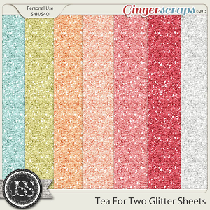 Tea For Two Glitter Sheets